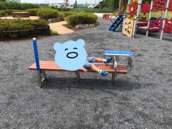 小仙波八反田公園健康器具の写真