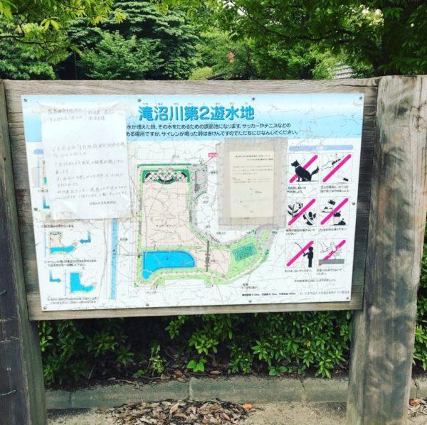 滝沼川第二遊水地看板写真