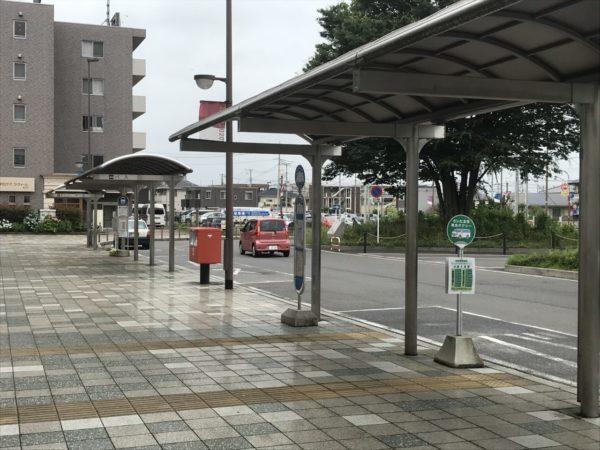 西大宮駅北口のバス乗り場の写真