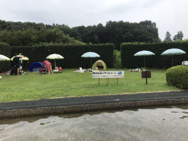 花の丘農林公苑の無料テント広場の写真