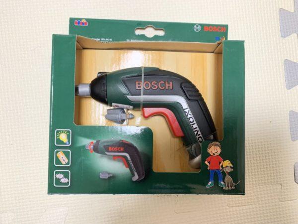 BOSCHのおもちゃ電動ドライバーの写真